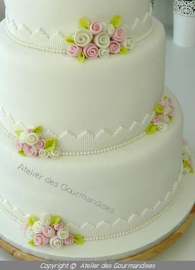 atelier des gourmandises wedding cake Blanc