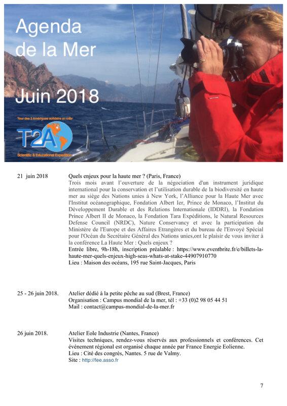 Agenda de la mer juin 2018 page 7:8