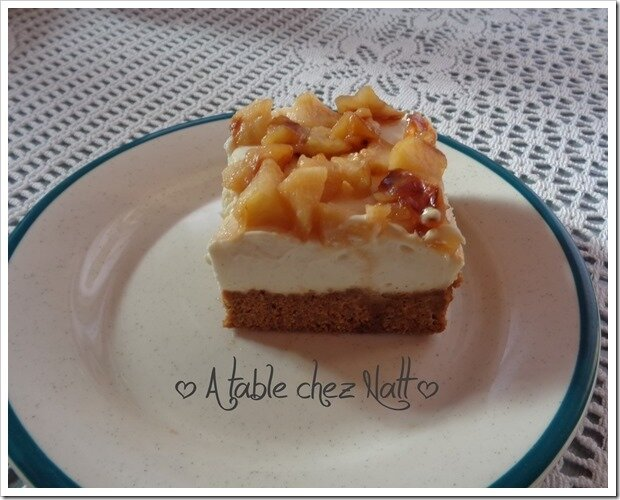 Cheesecake aux pommes 2