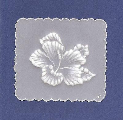 carte hibiscus embossé (2010)