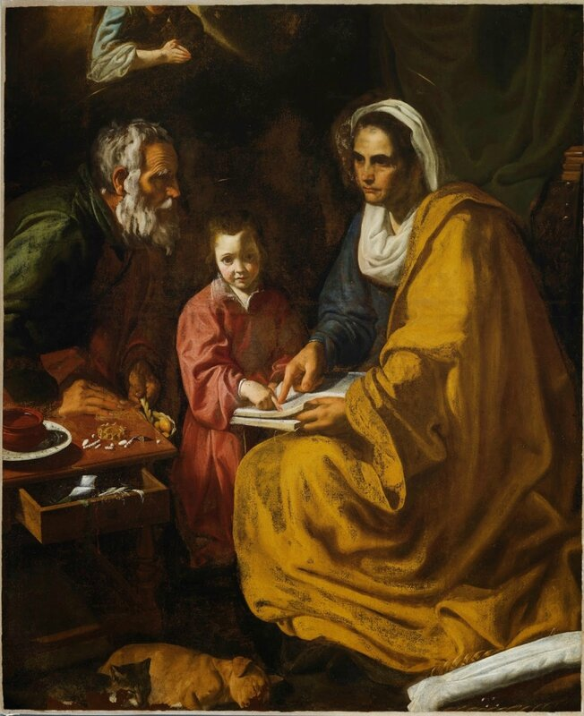 Diego Velazquez, L'Education de la Vierge, New Haven, Yale Art Gallery