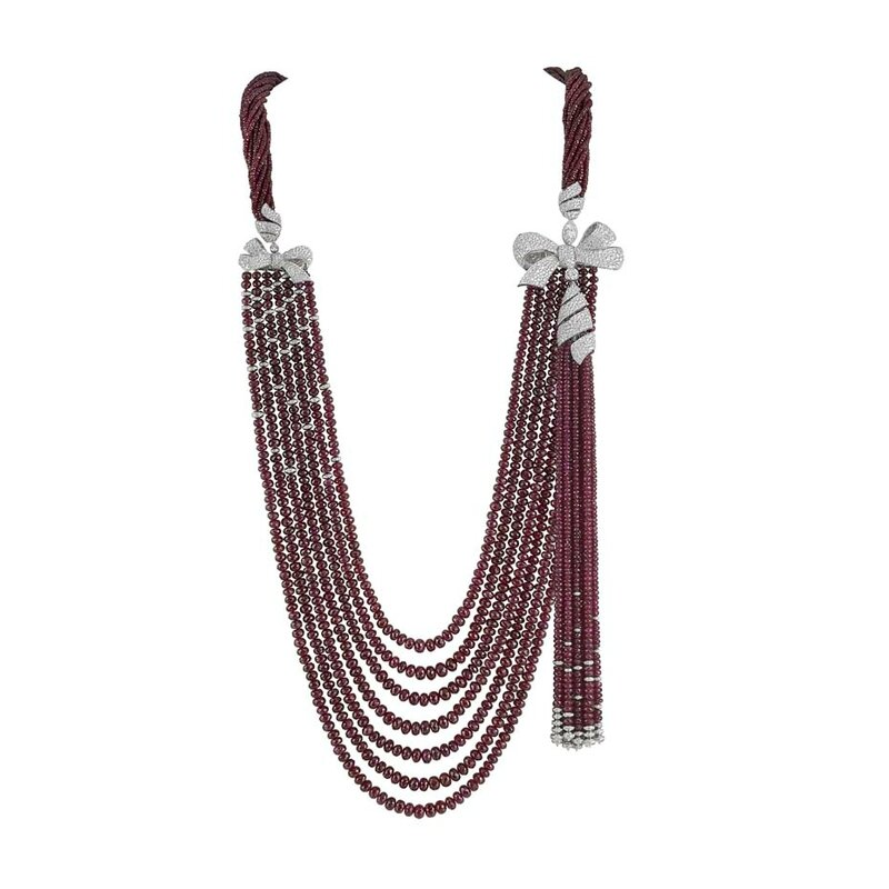 Garrard necklace from the new Bow collection launched at Baselworld 2015