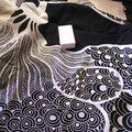Coton noir à motif blanc