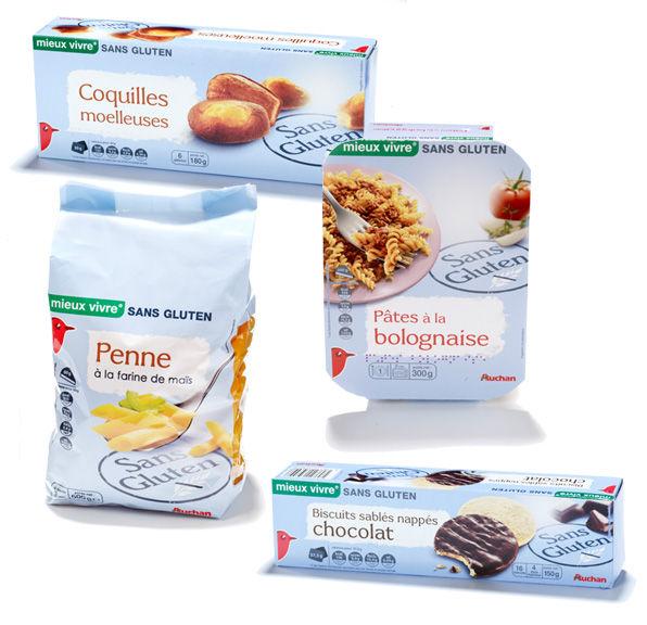La gamme Auchan - No gluten With pleasure
