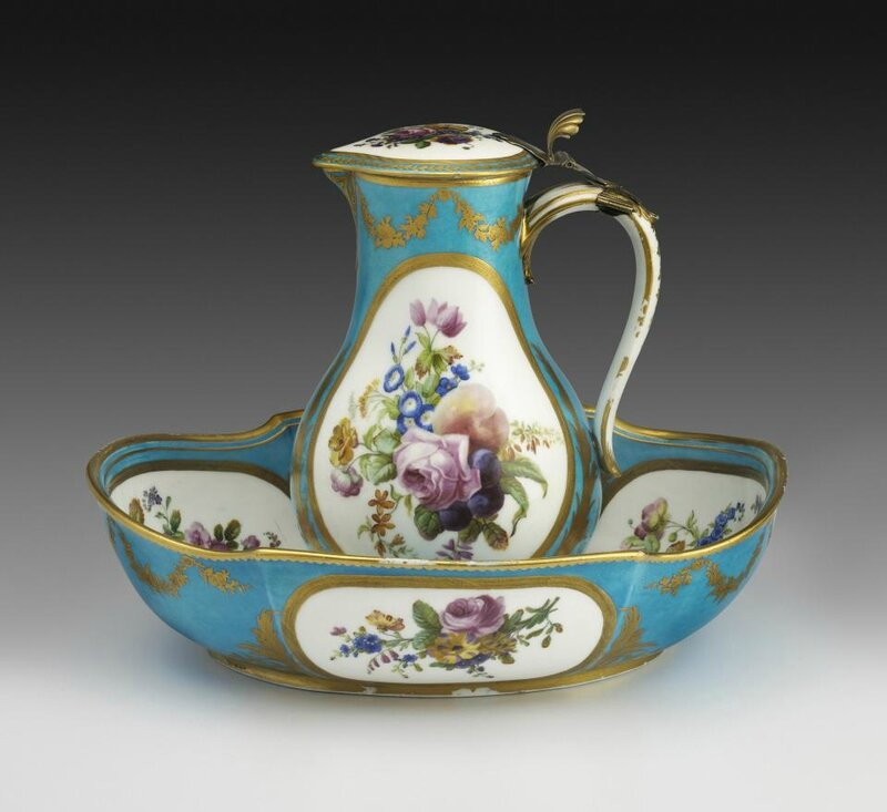 Water Jug and Basin, Sèvres Porcelain Manufactory, French, 1776