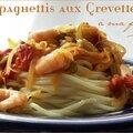 Spaghettis aux crevettes à ma façon