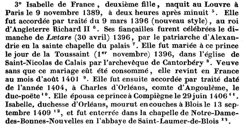 Isabelle de France 1389-1409
