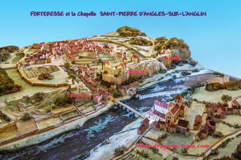 FORTERESSE et la Chapelle SAINT-PIERRE D'ANGLES-SUR-L'ANGLIN