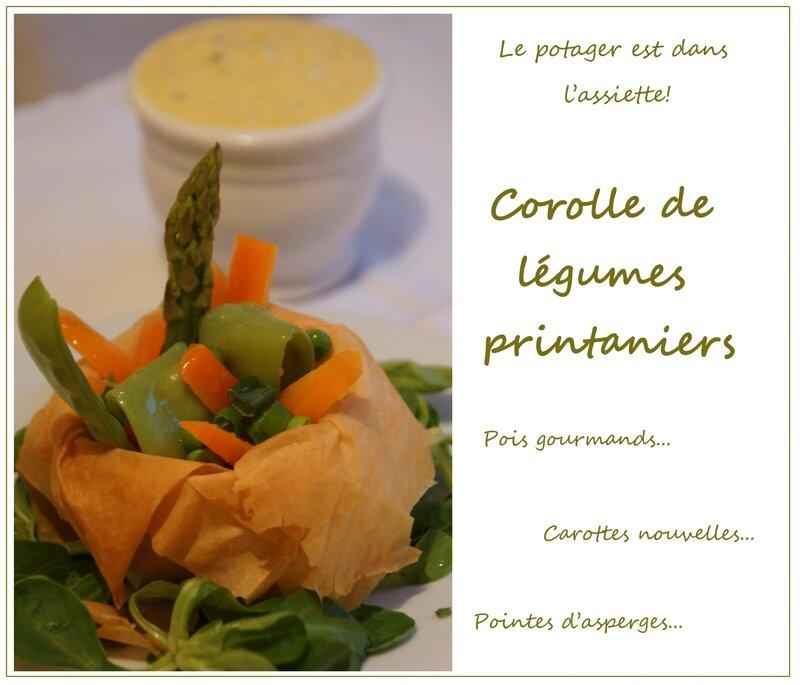 Corolle de légumes printaniers 2