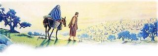Jésus-Joseph & Marie vers Jérusalem pour le recensement