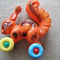 00016 jouet a tirer - ecureuil - marque inconnue