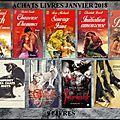 Achats livres ! janvier 2018