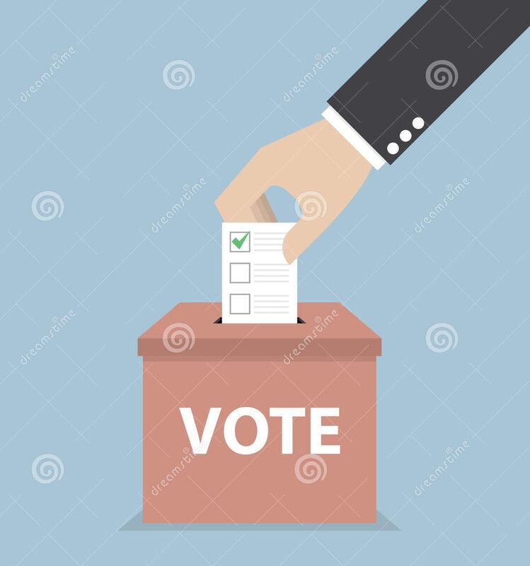 main-d-homme-d-affaires-mettant-le-bulletin-de-vote-dans-l-urne-votant-52014919
