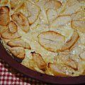 Flan au chocolat blanc et aux pommes [le mercredi, c'est pâtisserie #7]
