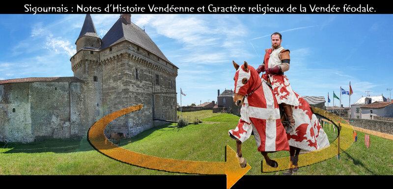 Château Sigournais - Notes d'Histoire Vendéenne et Caractère religieux de la Vendée féodale