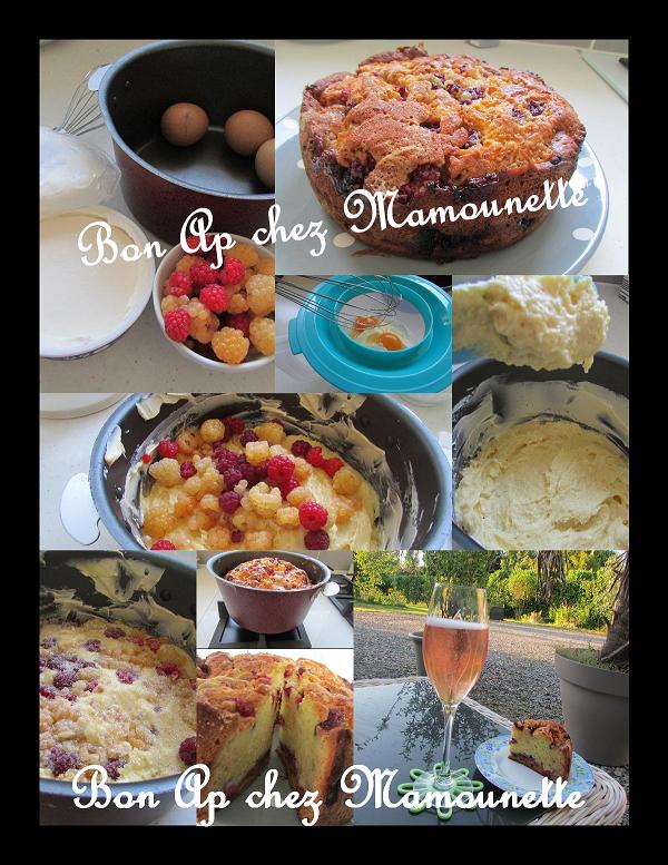 gâteau 2 framboises Mamounette