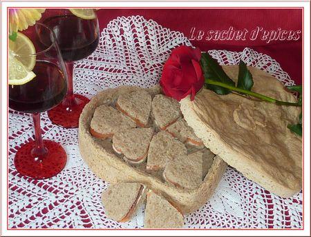 Le Valentin ou pain surprise à déguster en coeur