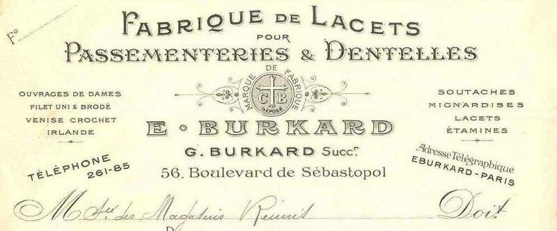 Burkard lettre