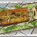 Flan d'asperges vertes au crabe et au surimi (m)