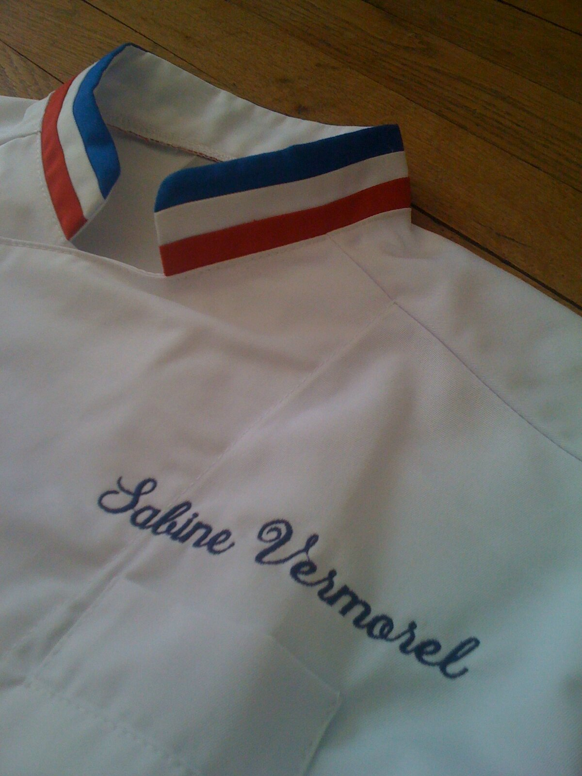 Mon ème Partenaire Manelli La Petite Cuisine De Sabine - Broderie veste de cuisine