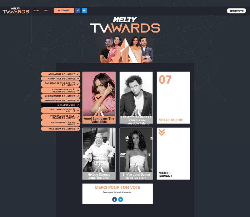 melty TV Awards sur melty