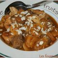 Tajine de fruits secs au poulet et mouton