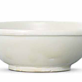 A xing white-glazed shallow bowl, five dynasties (907-960)