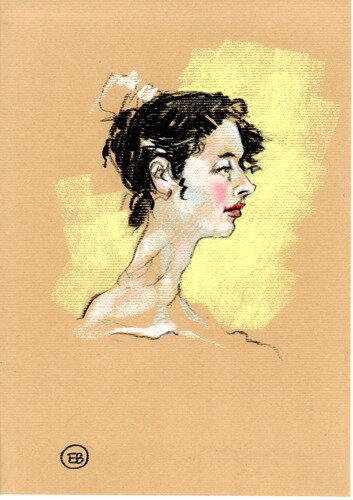 #croquisdenu modele vivant living model Etienne Bonnet Croquis nu dessin peinture Golden Blog Awards nude drawing sketch C MDS00340