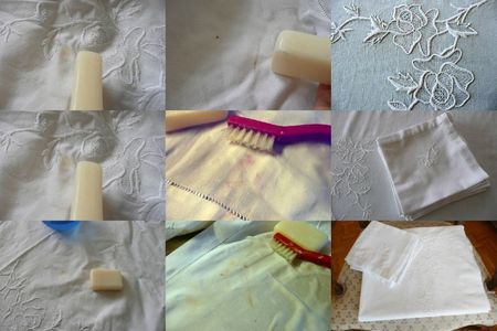 détachage nappe blanche