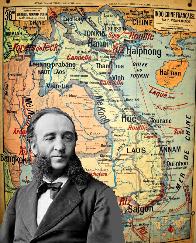 Jules Ferry et carte Indochine