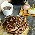 Grenadin de veau en croûte de fruits secs, jus corsé aux pistaches et shiitakés corréziens
