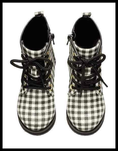 h & m boots carreaux 2