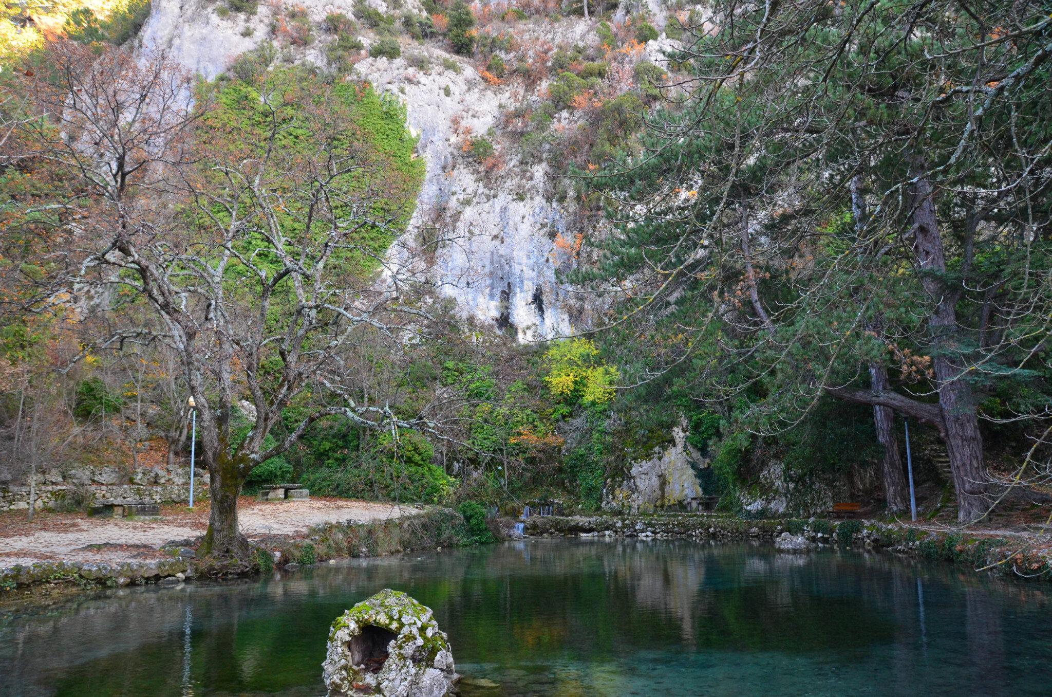 La source du Groseau, au pied du Mont Ventoux