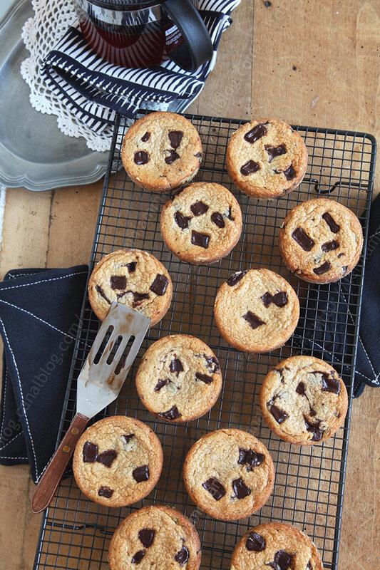 La recette des cookies au beurre de cacahuète et pépites de chocolat de Julie Andrieu (challenge cookies #9)