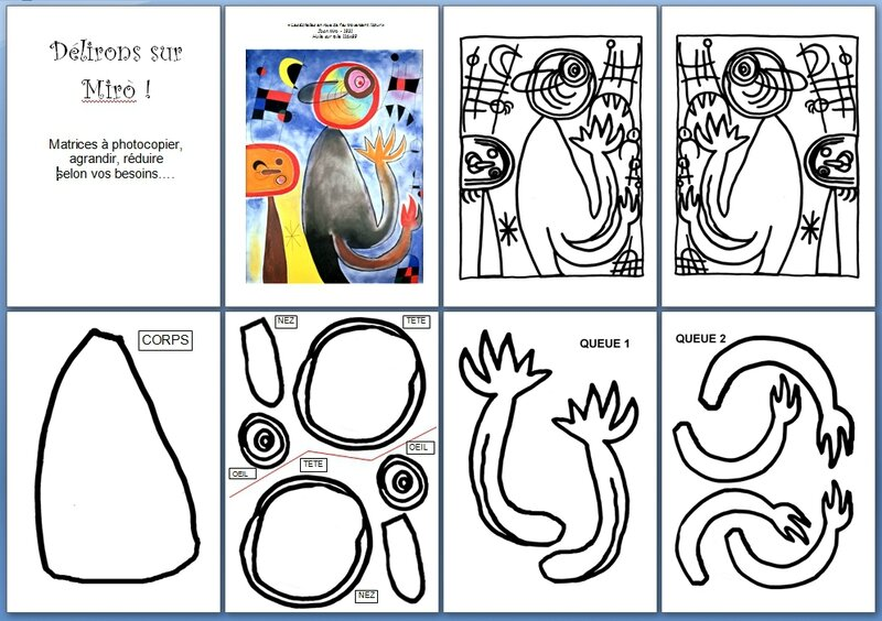 images matrices ANIMAL MIRO