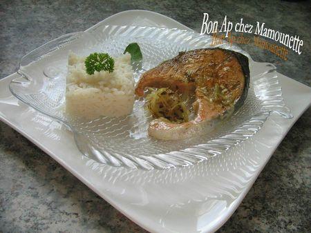 Darne de saumon au colombo cuit sur la plancha et son riz nature 013