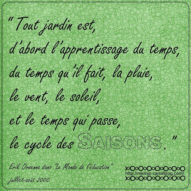 Citation Orsenna Jardin Saisons