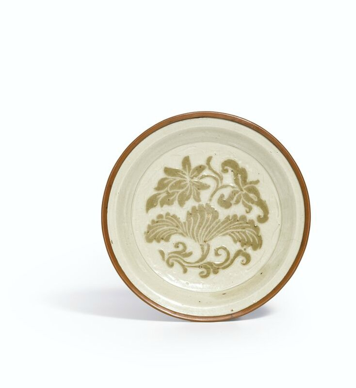 A rare 'Dingyao' slip-decorated dish, Northern Song dynasty