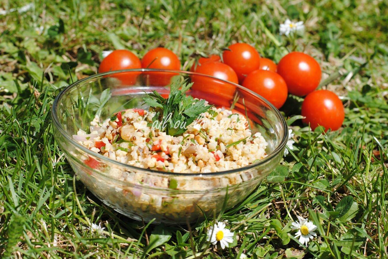 Taboulé boulgour, quinoa & légumes secs