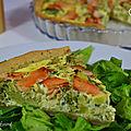 Tarte au brocoli et au saumon fumé