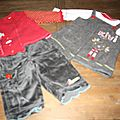 18 ensemble 2 tee-shirt + tunique + pantalon sucre d'orge (4€)
