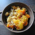Tajine de veau, carottes et abricots secs