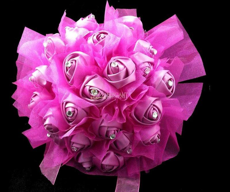 bouquet fushia fillette