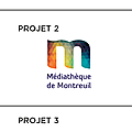 3 projets Logo Mediatheque