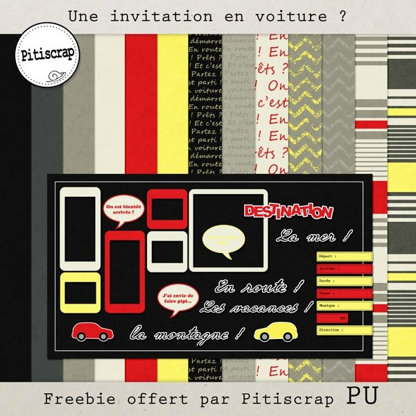 Pitiscrap-invitation en voiture-0 preview