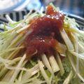Negi salada, salade de poireaux blancs