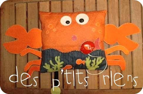 doudou/coussin crabe