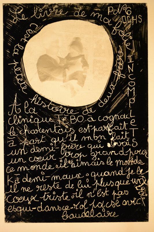 dessins et grisaille sur des fantômes du temps en verre poétique