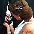 Accessoire de coiffure mariage original, en fil plaqué argent