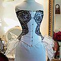robe de mariée pétale devant corset marjorie g création